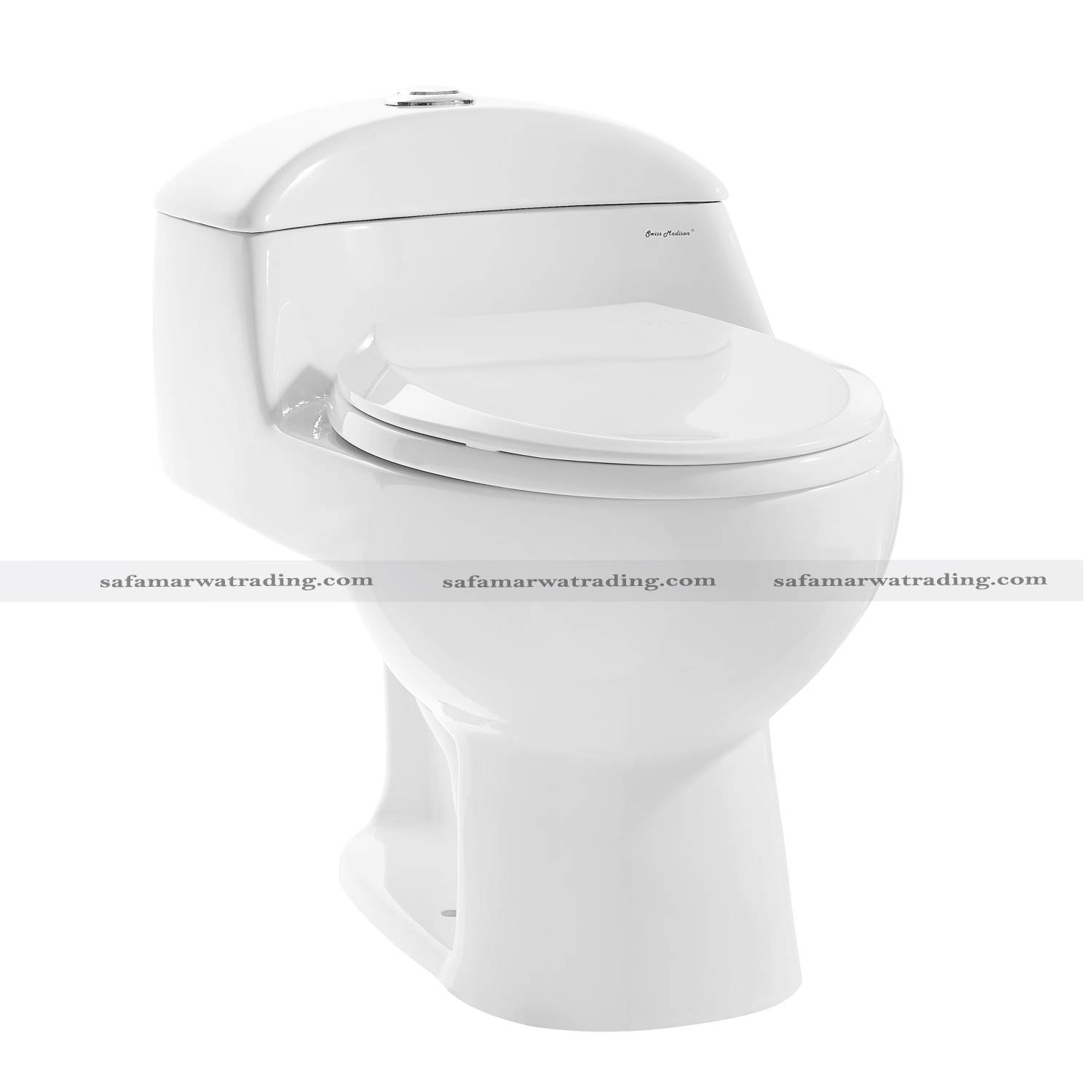 One Piece Toilet Siphonic Flush- 8058